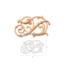 Carved openwork classic-style onlay...