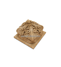 Gothic style carved wooden finial f...