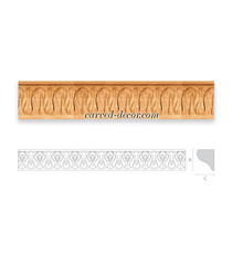 Carved Ethnic style moulding for ce...