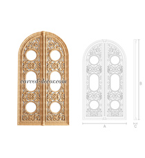 Hand carved arched Altar Gate from ...