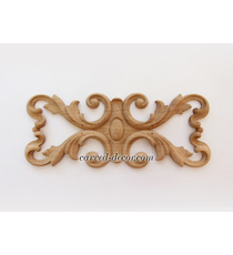 Carved floral center onlay with a m...