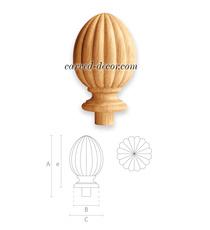 Architectural decorative acorn fini...
