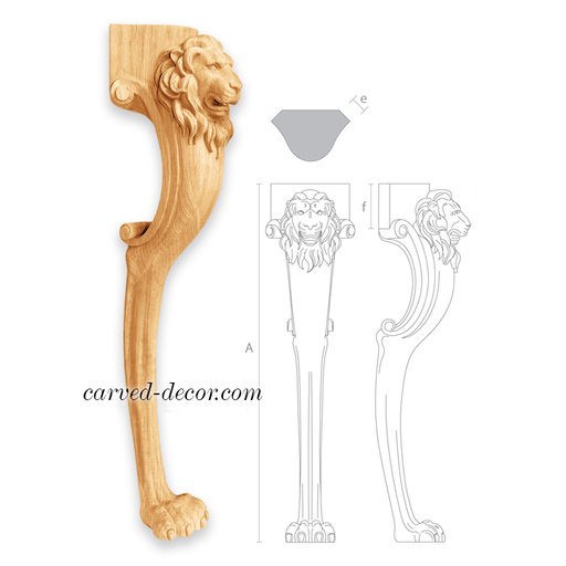 Antique dining room carved legs