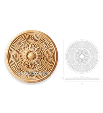 Round floral rosette onlay with a G...