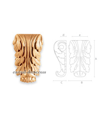 Ornate wooden corbels with Acanthus...