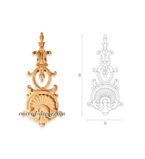Carved Baroque drop onlay with a Pa...