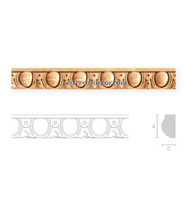 Classical cabinet moulding with ion...