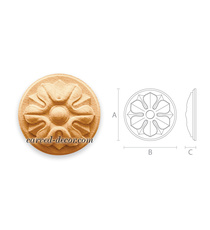 Classical style miniature round flo...