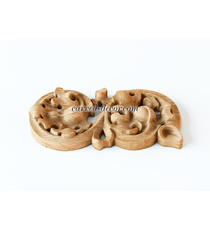 Gothic-style decorative scroll appl...