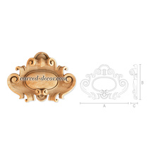 Classical hardwood cartouche with s...