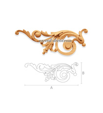 Carved classic-style floral aplique...