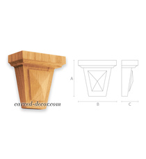Unfinished architectural bracket for beds