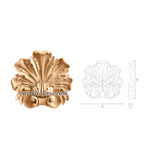 Rounded center onlay with acanthus ...