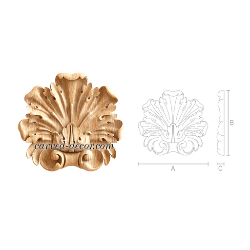 Decorative carved wood onlays for fireplace