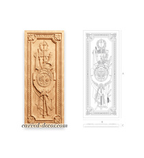Large decorative carved panel from ...