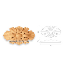 Classic style oval wooden rosette a...
