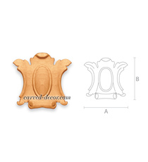 Wooden cartouche onlays for firepla...
