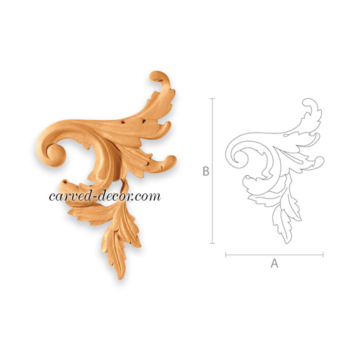 Custom appliques and onlays for kitchen cabinets