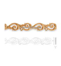 Ornate hardwood mouldings for doors
