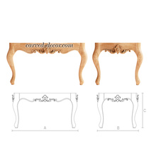 Unfinished coffee table frame for i...