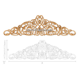 Victorian wood appliques for cabinets