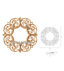 Classical round wood frame, Carved frame for mirror
