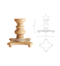 Round antique style wooden table pe...
