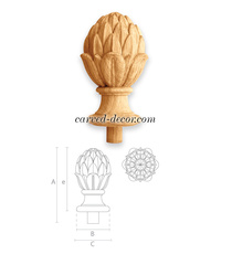 Unfinished Artichoke finial for int...