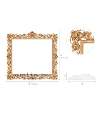 Custom Antique frame with acanthus ...