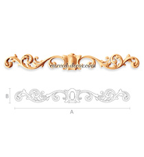Long dcorative scroll applique for ...