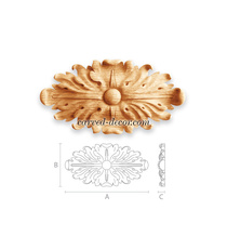 Architectural wood medallion