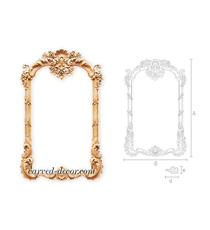 Baroque style arched hanging mirror...