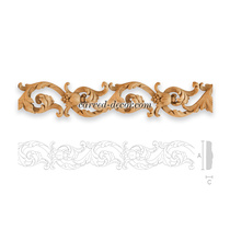 Decorative appliques for cabinet doors