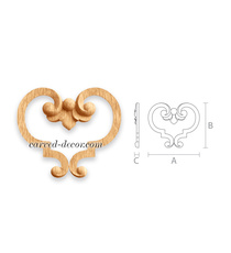 Handcrafted heart-shaped wooden app...