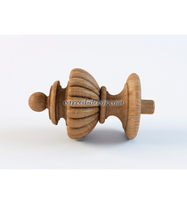 Renaissance custom wooden finial fo...