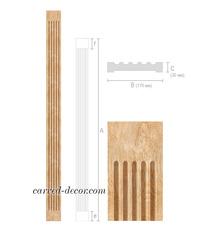 Wide hardwood pilaster for interior...