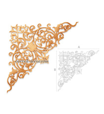 Ornate carved wood onlays for mantel