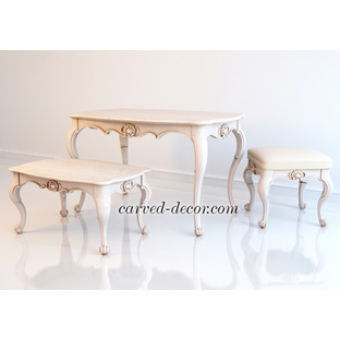 Antique carved table legs