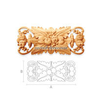Antique style carved floral onlay w...