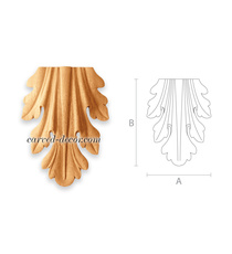 Small Classic style acanthus drop a...