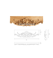 Baroque style floral architrave fro...