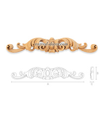 Handcrafted Classic style cartouche...