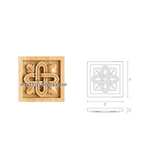 Square decorative rosette with a ge...