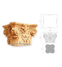 Handcrafted square capital corbel w...