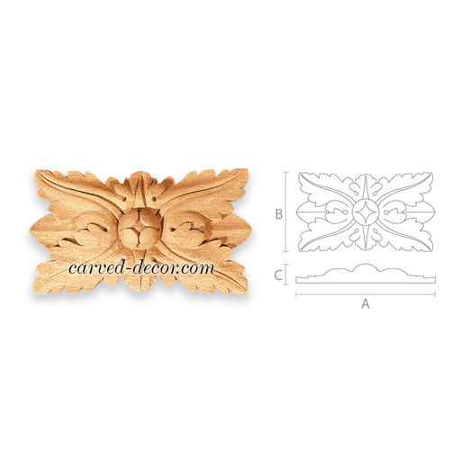 Unfinished wood medallion for fireplace