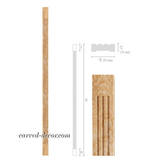 Decorative fluted pilaster from sol...