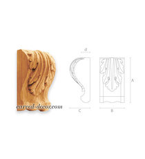 Acanthus wooden corbel, Carved clas...