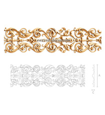 Ornamental wood mouldings for cabinet doors