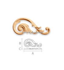 Acanthus carved scroll applique for...