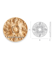 Custom made wooden rosettes appliques for furniture